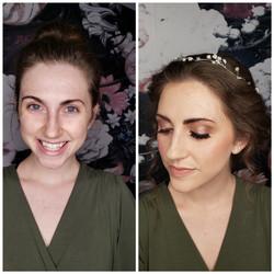 bronzed and natural makeup