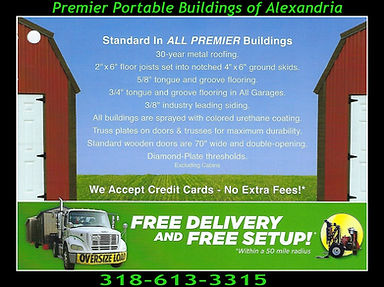 Premier Portable Buildings Free Delivery and Setup