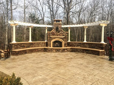 patio-fireplace-pergola-seating-stamped-