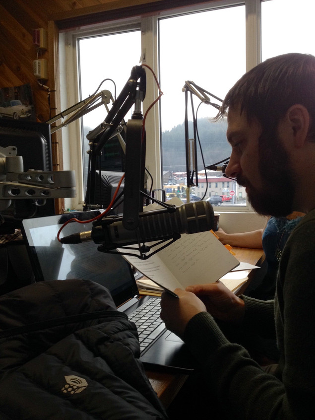 Reading poetry on the radio