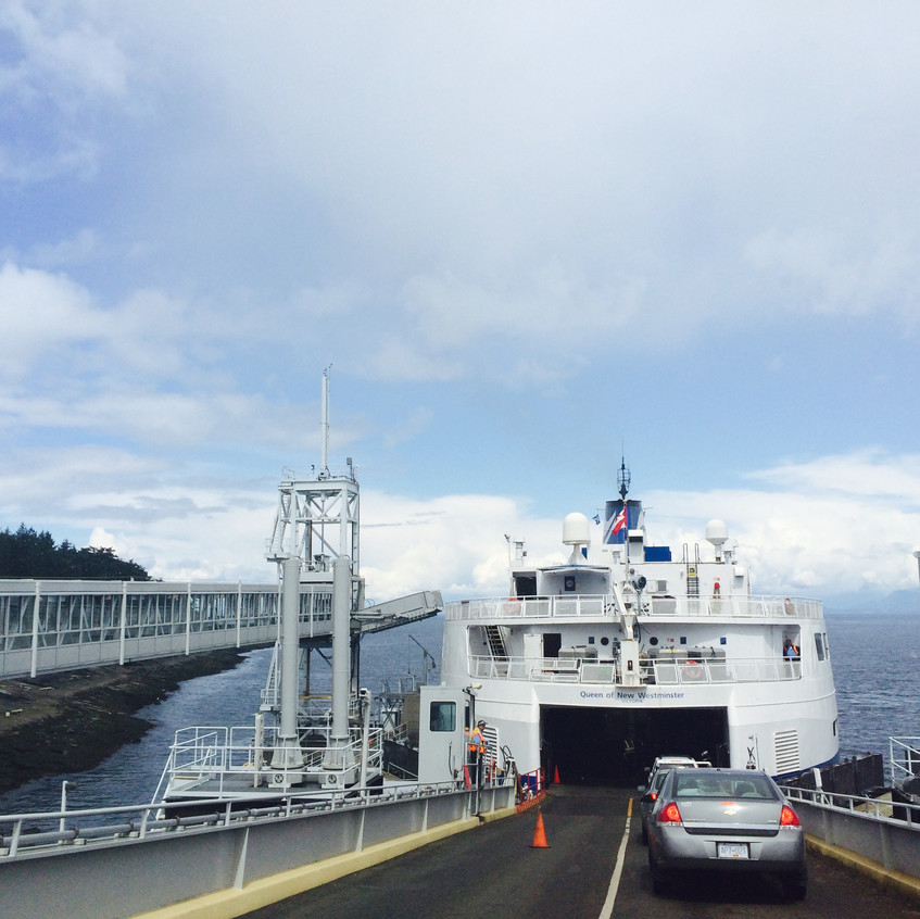 Huge ferry from Vancouver Island back to mainland BC.