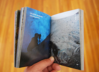 Fun to have a little pic I took in an ice cave in an Anchorage Museum minibook