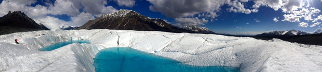 Early season lakes in the ablation zone
