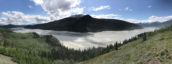 Chitina River upstream of the just-visible confluence with the Copper River
