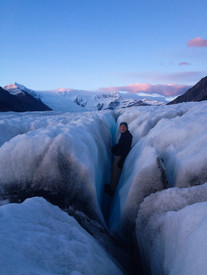 Nathaniel Wilder on the Root Glacier