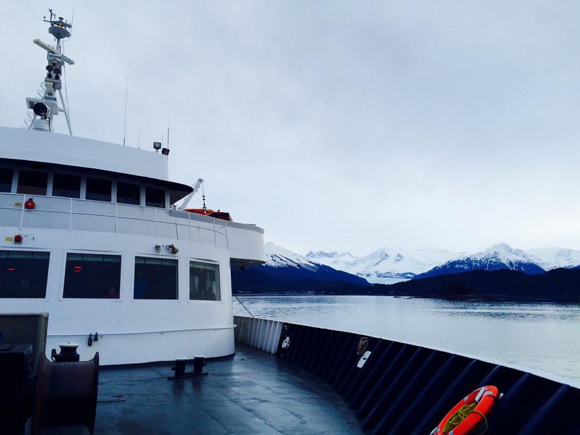 Leaving Juneau by ferry
