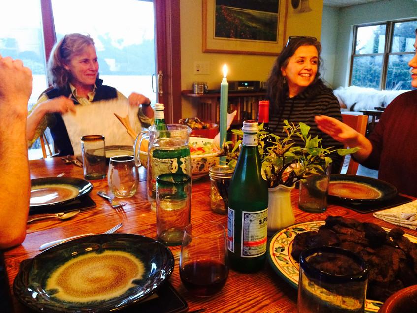 Fantastic dinner at Heather Lende's