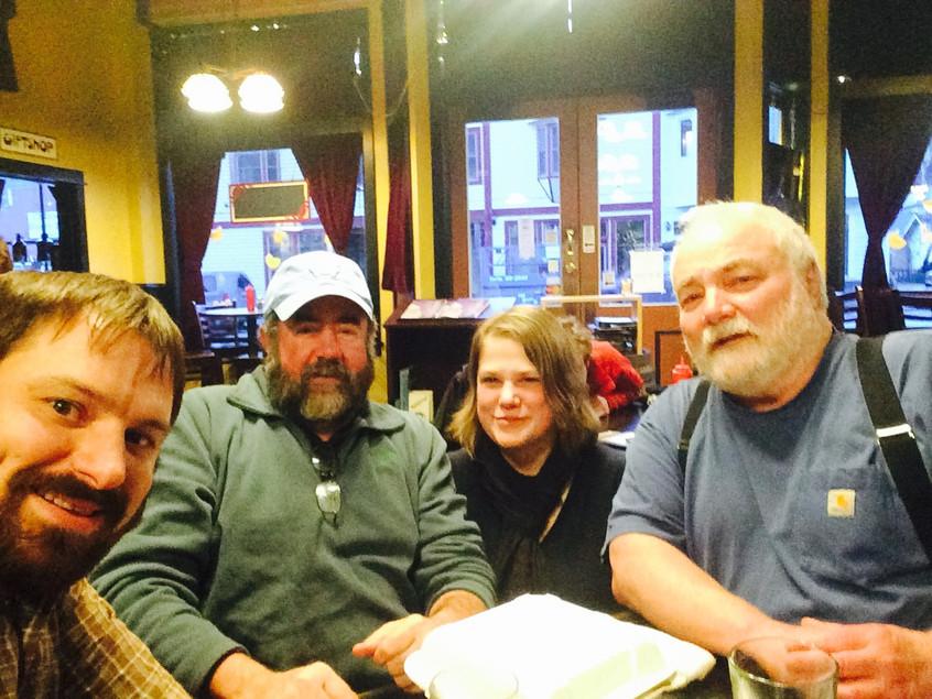 Buckwheat, Katrina, Jeff, and I