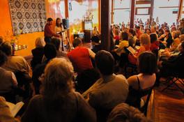 """Homesteading"" with Grace Egbert (Grace Ortman) at The Stensrud, Missoula, MT, April 26, 2008"