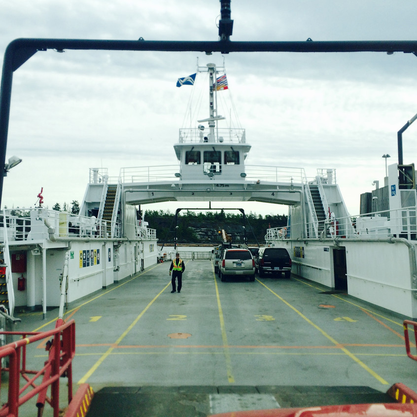 Tiny ferry from Thetis back to Vancouver Island...