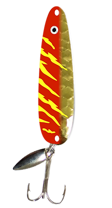 Hex Gold Red Tiger Flutter Spoon