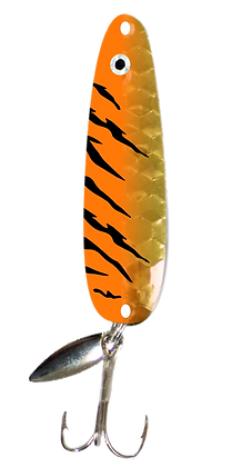 Hex Gold Orange Tiger Flutter Spoon