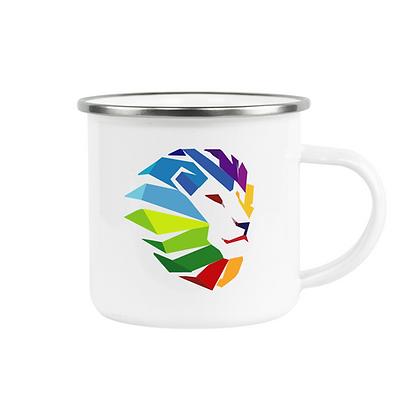 12oz. White Enamel Cup