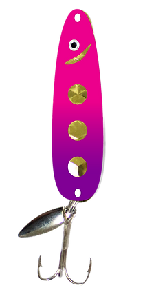 Hex Gold Pink and Purple Dot Flutter Spoon