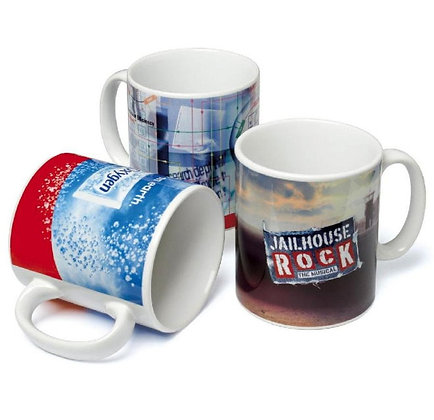 11oz. White C-Handle Mugs