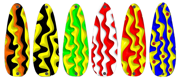 BaitFX Weedless Casting Spoons - Art Series - Wave