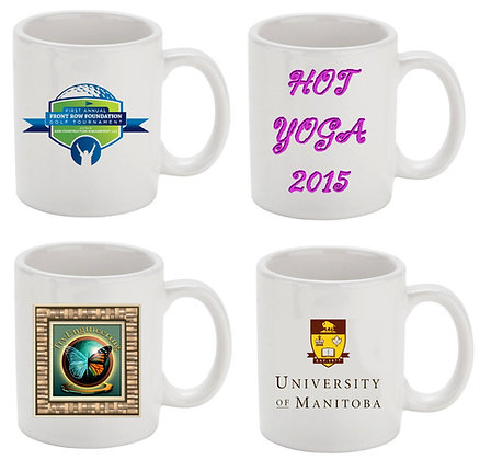 11 oz. White C-Handle Economy Mugs