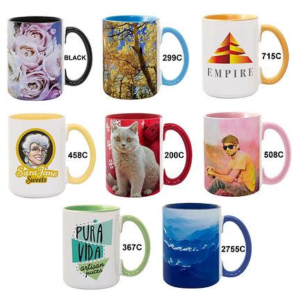15oz. Color Combo Ceramic Mugs