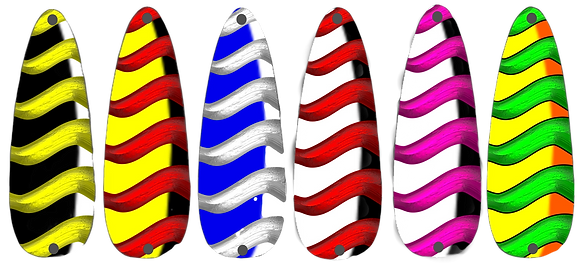 BaitFX Casting Spoons - Art Series - Shimmer