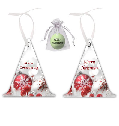 Triangle Holiday Ornament