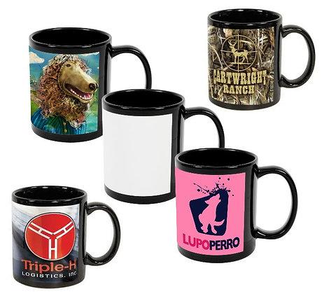 11oz. Black C-Handle Mugs