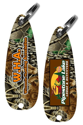 Camo Fishing Lure Key Chains