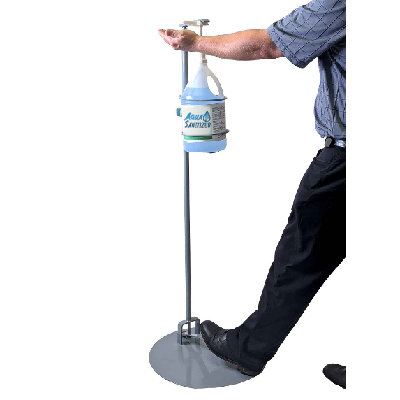 Foot Pedal Sanitization Station with 70% Alcohol Sanitizer