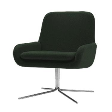 Coco lænestol m. drejefod, mørkegrøn / Coco swivel armchair, dark green