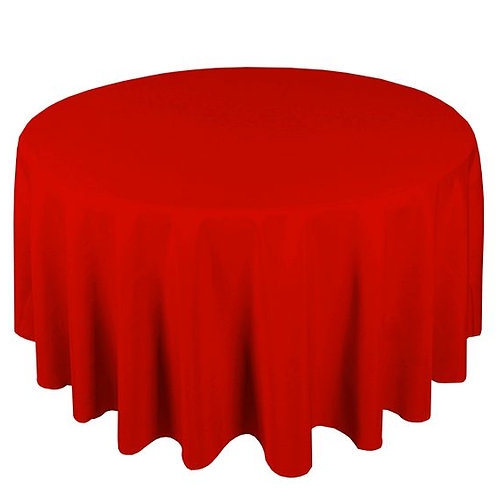 Dug polyester Ø270 cm, rød / table cloth polyester Ø270 cm, red