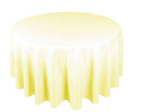 Dug polyester Ø225 cm, elfenben / table cloth polyester Ø225 cm, ivory