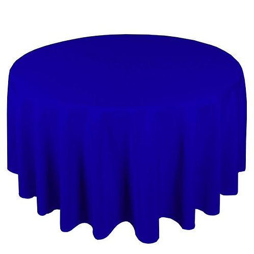 Dug polyester Ø225 cm, kongeblå / table cloth polyester Ø225 cm, royal blue
