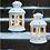 Thumbnail: Lanterne med stjerner, hvid / Lantern with stars, white