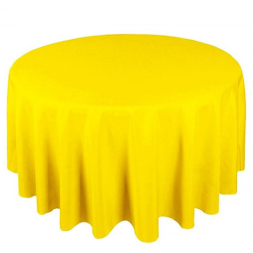 Dug polyester Ø225 cm, gul / table cloth polyester Ø225 cm, yellow