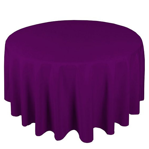 Dug polyester Ø270 cm, lilla / table cloth polyester Ø270 cm, purple