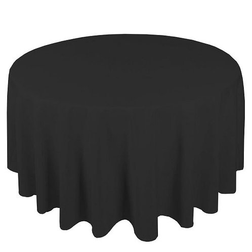 Dug polyester Ø225 cm, sort / table cloth polyester Ø225 cm, black