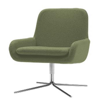 Coco lænestol m. drejefod, grøn / Coco swivel armchair, green