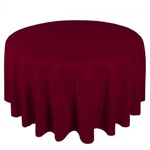 Dug polyester Ø270 cm, bordeaux / table cloth polyester Ø270 cm, bordeaux