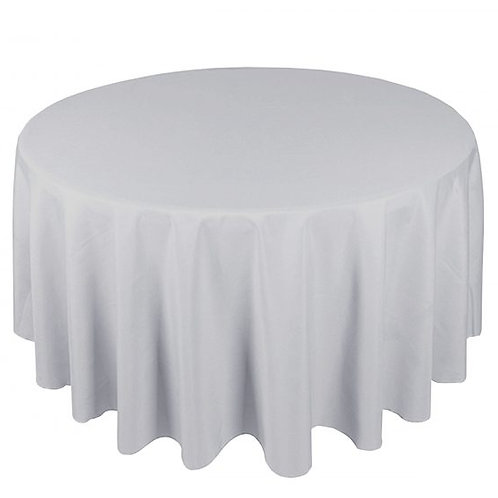 Dug polyester Ø270 cm, lysgrå / table cloth polyester Ø270 cm, light grey