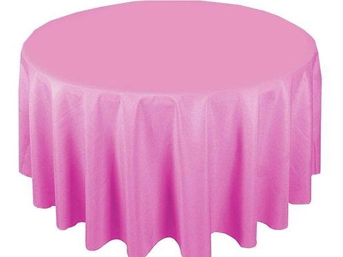 Dug polyester Ø270 cm, pink / table cloth polyester Ø270 cm, pink