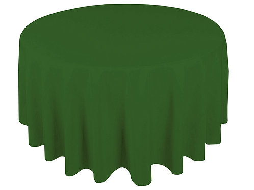 Dug polyester Ø225 cm, skovgrøn / table cloth polyester Ø225 cm, forest green
