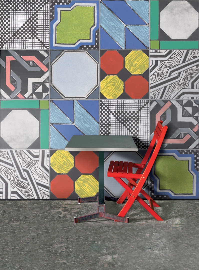 I-Gattipardi_Mix-Colours-60x60_Red-Chair