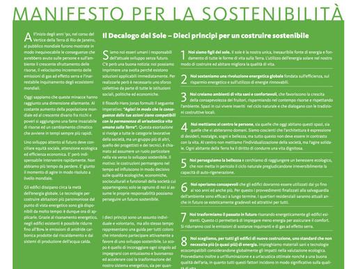 Manifesto per la sostenibilità