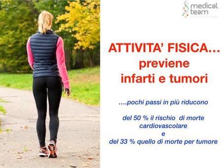 Attività fisica previeni infarti e tumori
