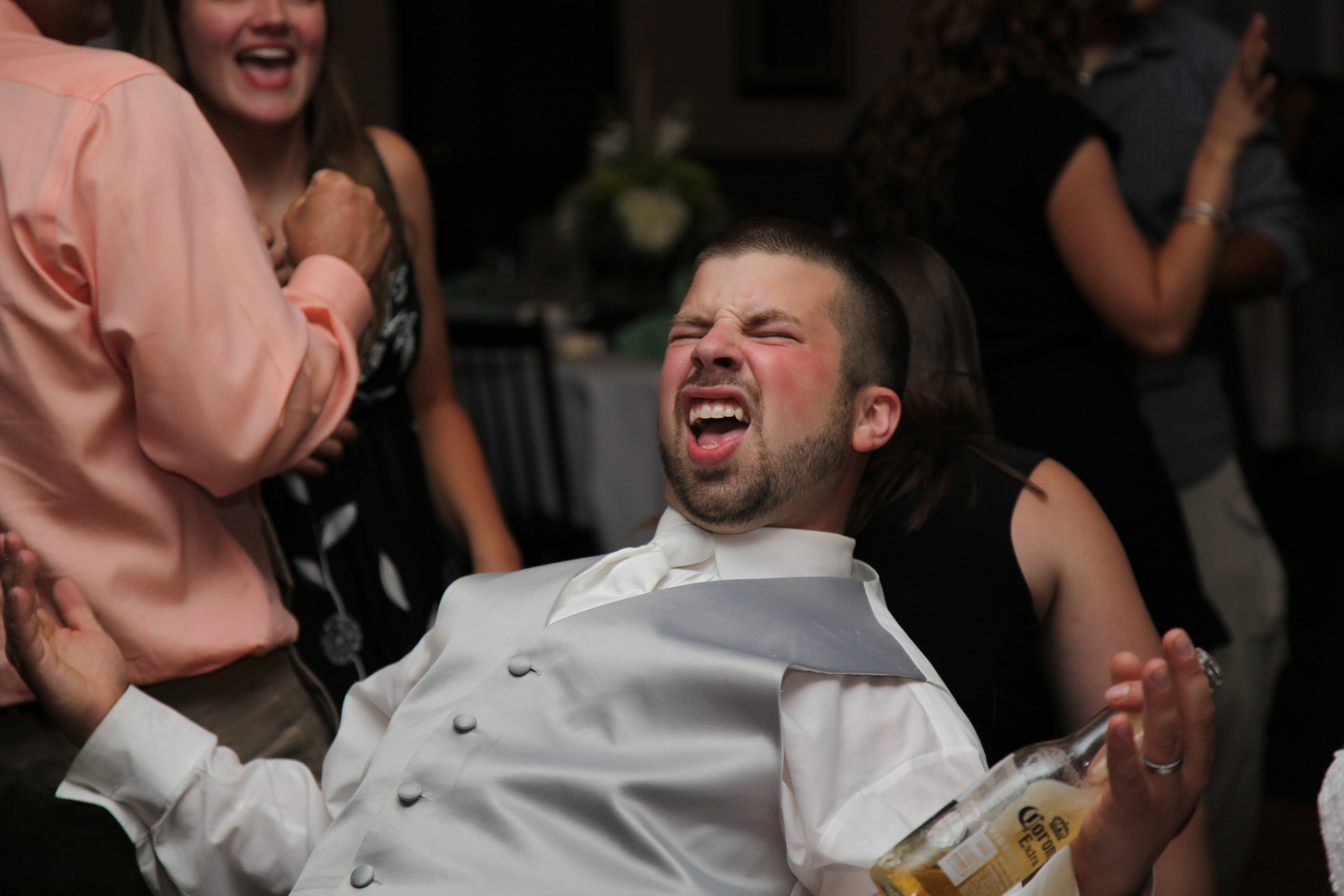 The Groom Rocking Out