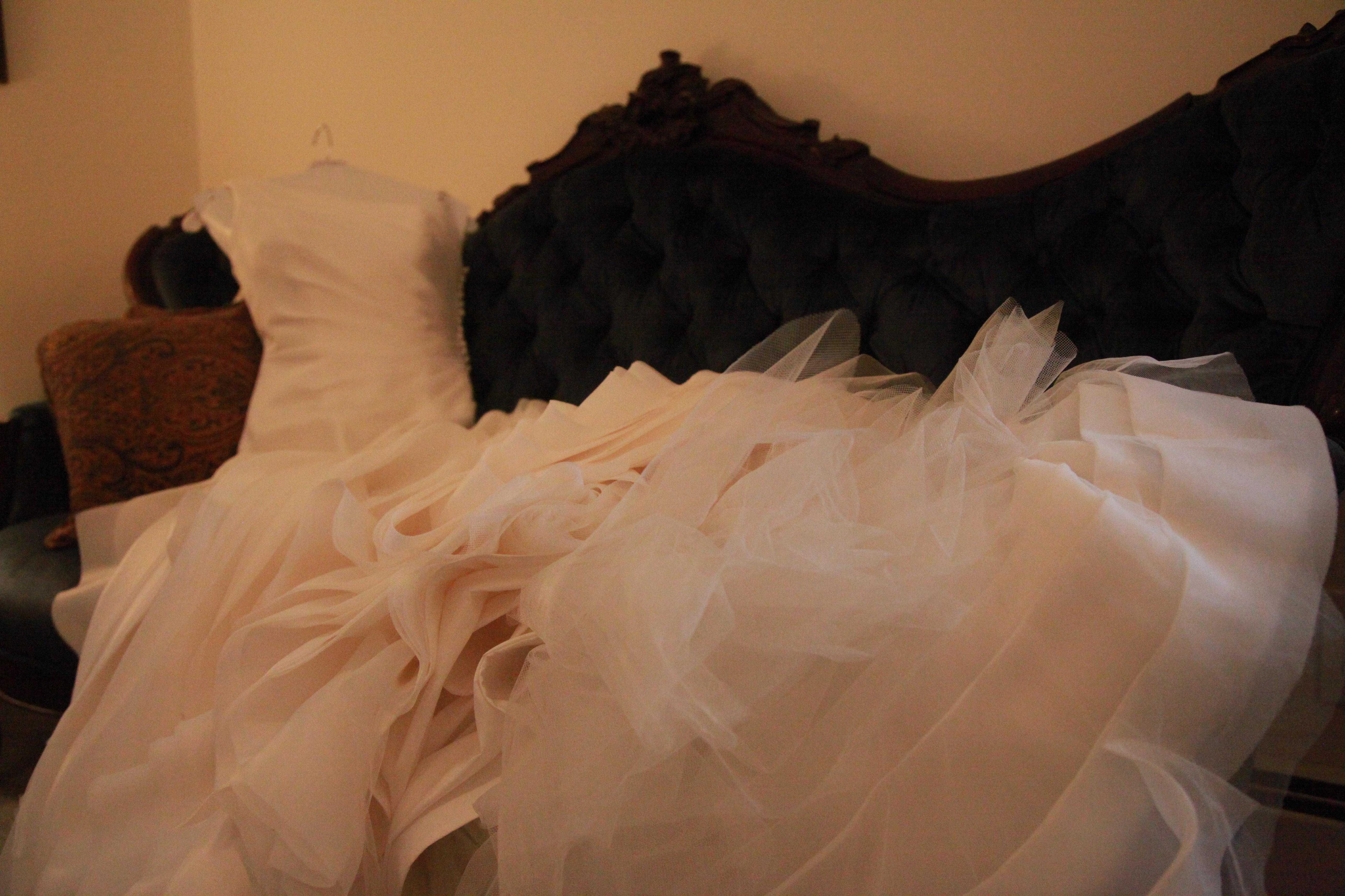 Wedding Dress sitting up