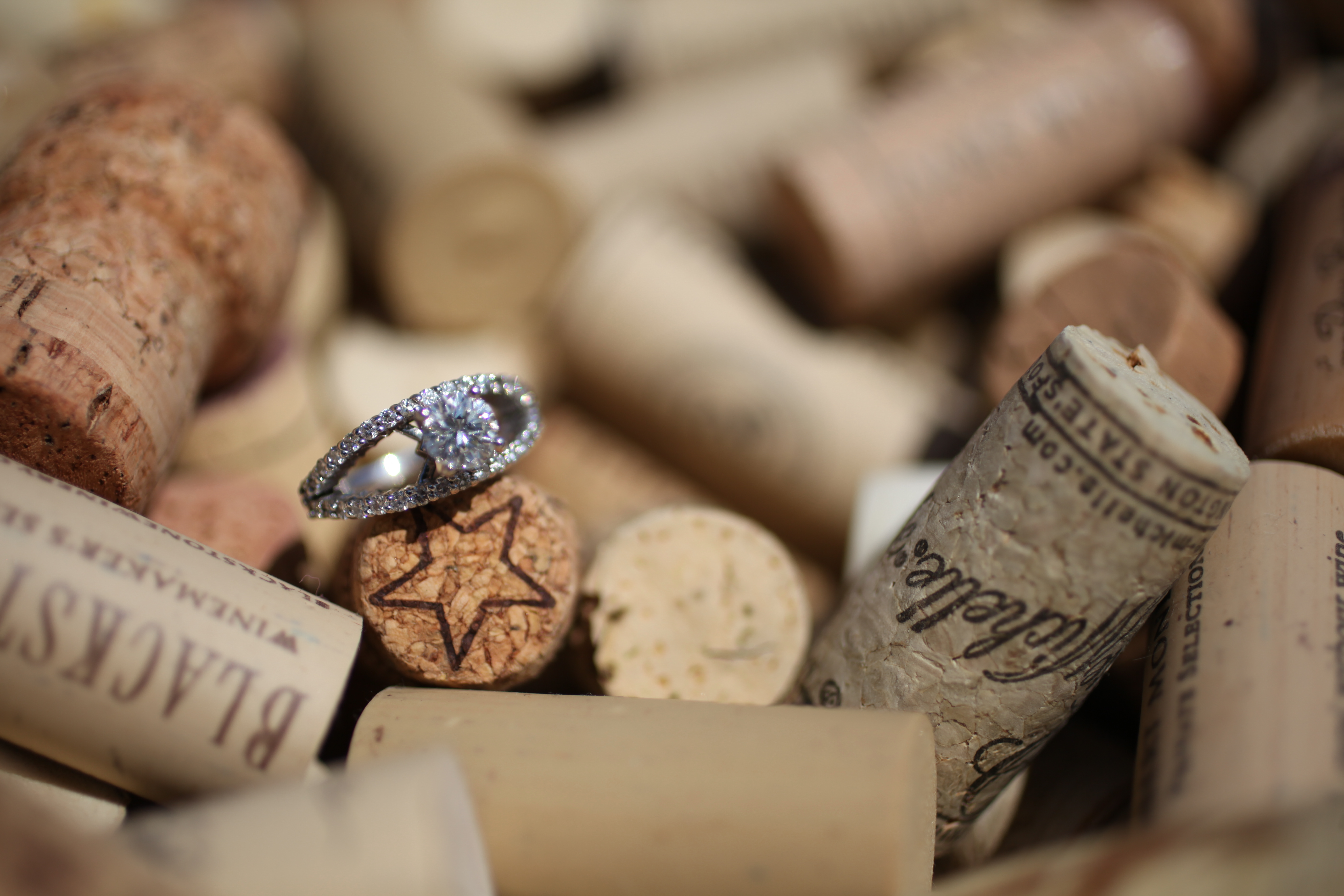 Engagement Ring in Corks