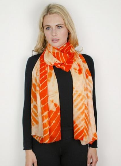 Anaranjardo Cashmere & Silk Tie-Dye Wrap