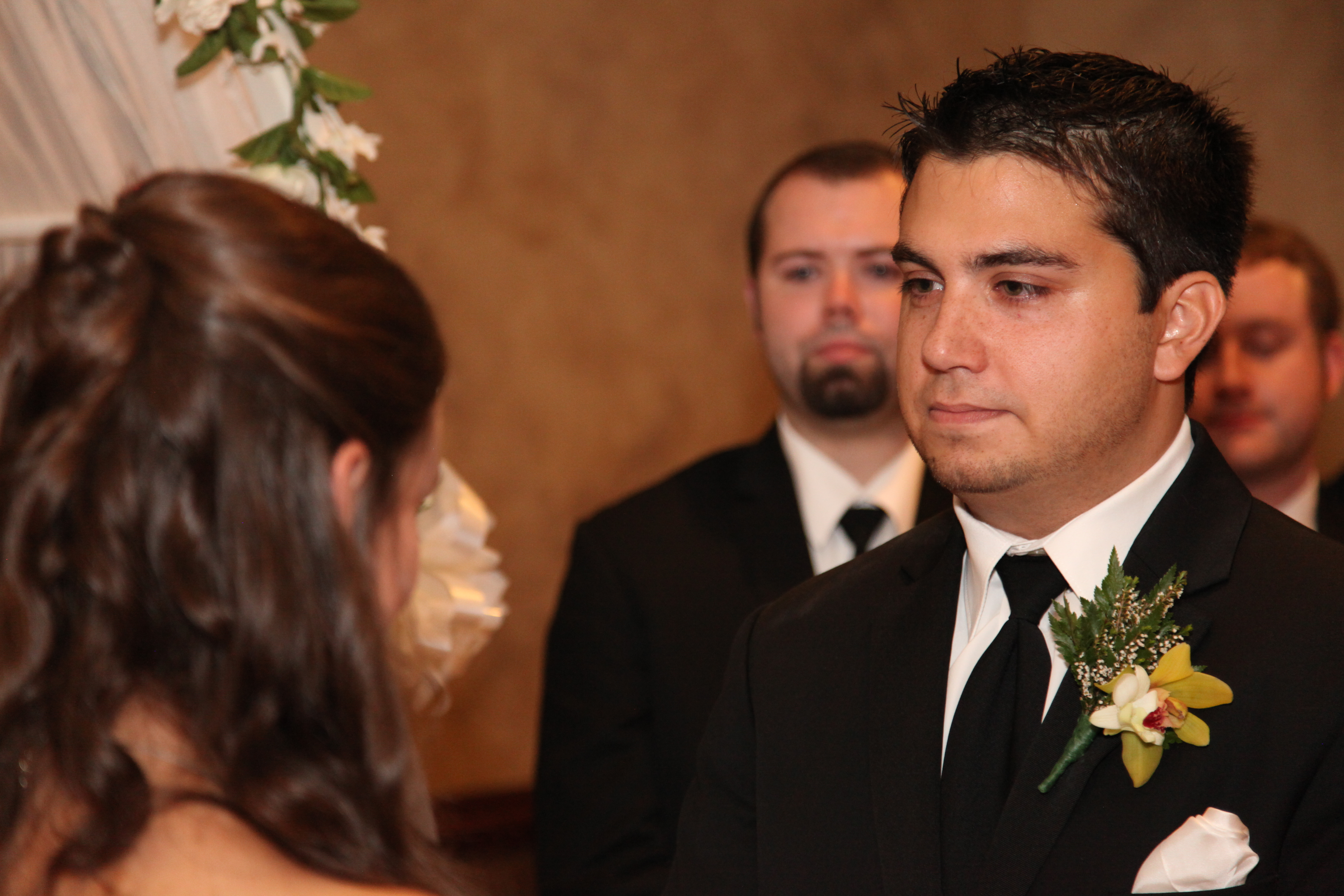 The Groom Crying