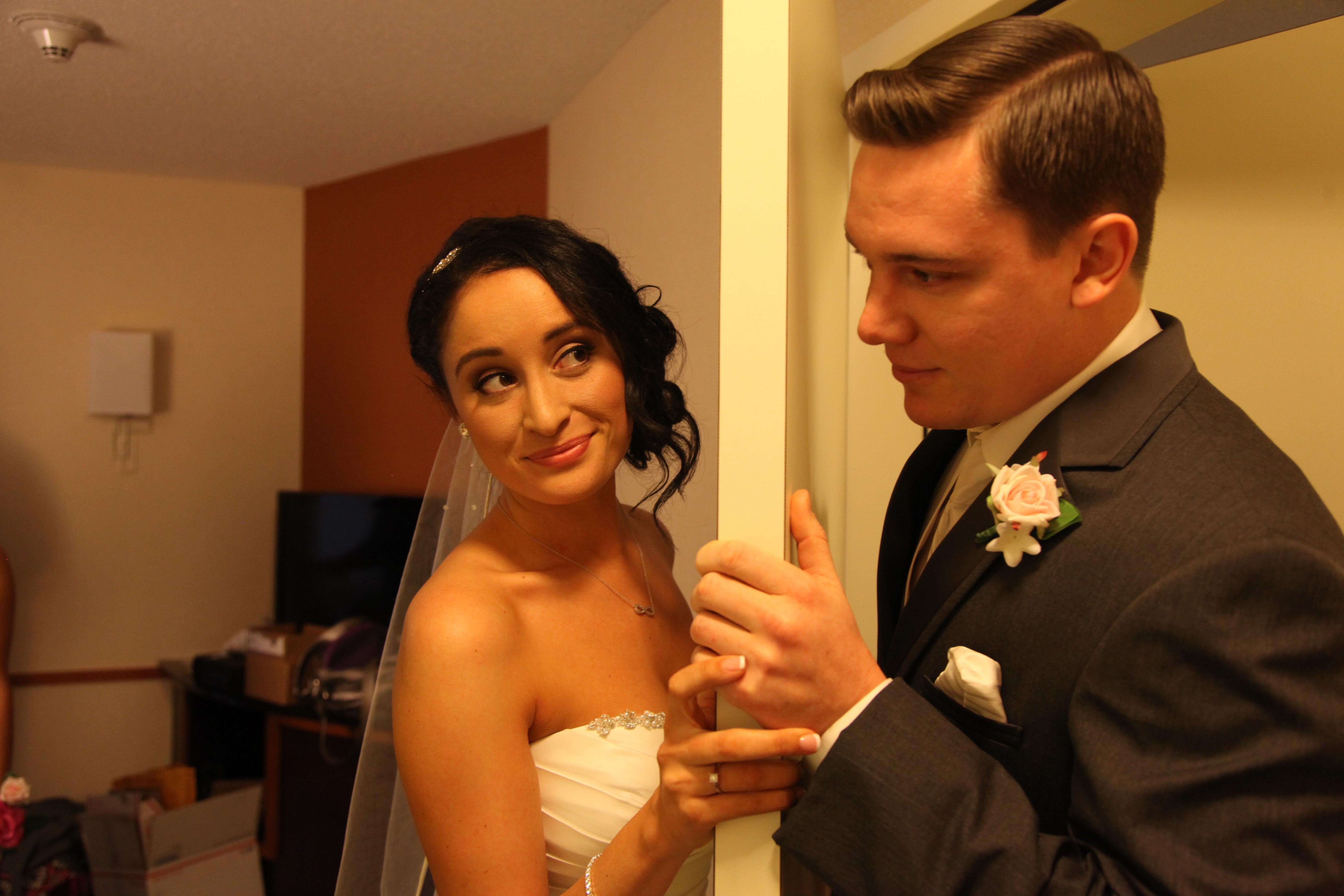 A Bride, A Groom and A Door