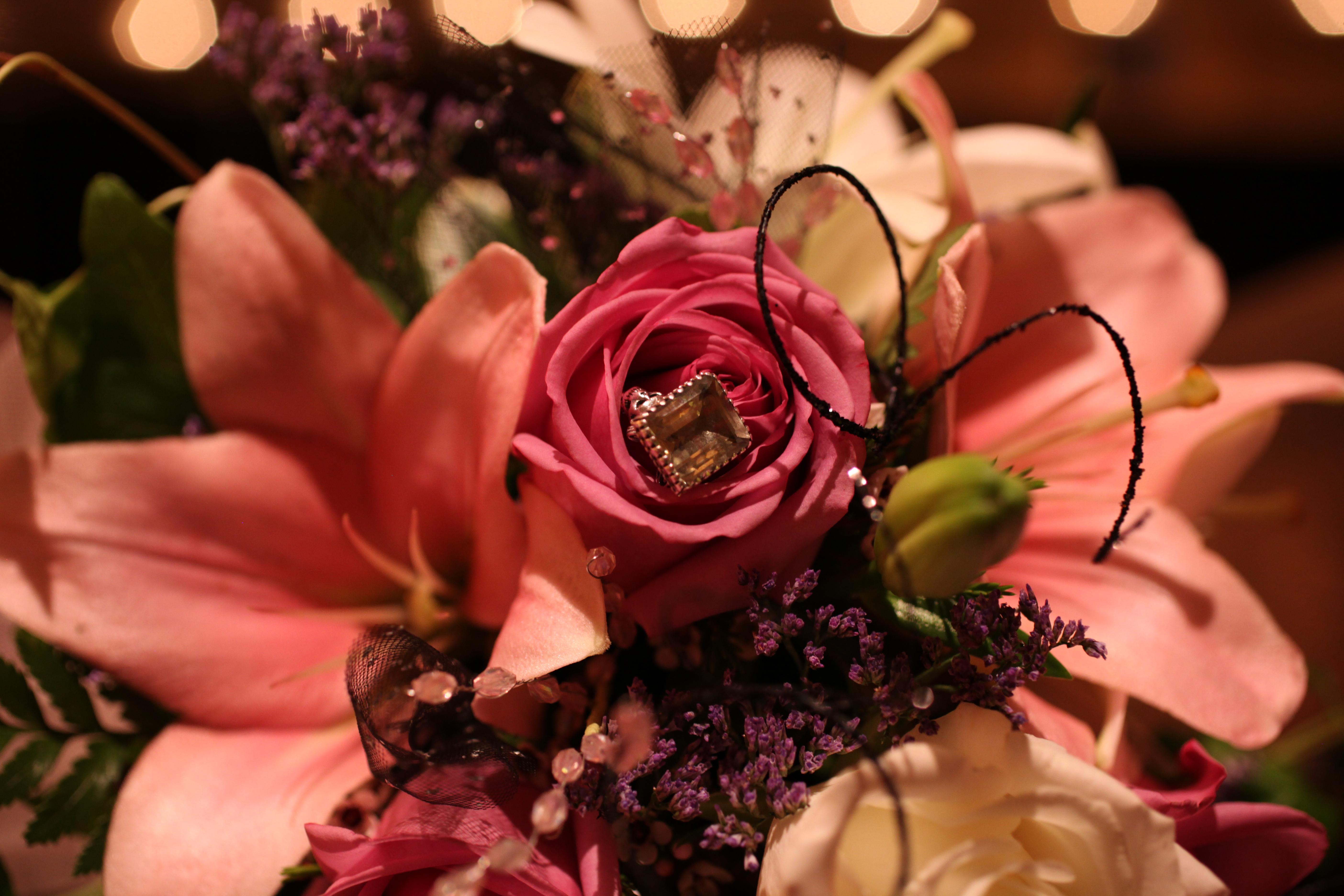 Emerald Ring in a Bouquet